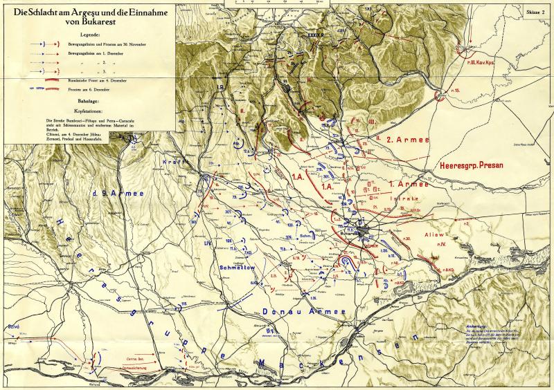 Bătălia pentru Bucureşti (30 noiembrie/13 decembrie - 3/16 decembrie 1916) Parte a Participării României în campania anului 1916 (Desfăşurarea acţiunilor militare) - foto preluat de pe ro.wikipedia.org