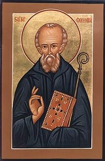 """Slăvitul și de Dumnezeu-purtătorul Părintele nostru Columba din Iona, Luminătorul Scoției (7 decembrie 521 - 9 iunie, 597) (cunoscut și sub numele de Columcille care înseamnă """"Porumbelul Bisericii"""") a fost un propovăduitor irlandez care a ajutat la reintroducerea creștinismului în Scoția și în Nordul Angliei - foto preluat de pe ro.orthodoxwiki.org"""