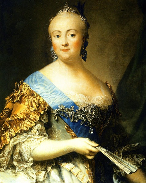 Elisabeta Petrovna (29 decembrie [S.V. 18 decembrie] 1709 - 5 ianuarie 1762 [S.V. 25 decembrie 1761]), cunoscută şi ca Elisabeta, a fost o împărăteasă a Rusiei (1741 – 1762) care a implicat ţara în Războiul austriac de succesiune (1740 – 1748) şi în Războiul de 7 ani (1756 – 1763). Este cunoscută pentru dorinţa de expansiune teritorială a Rusiei (Portrait painted by Vigilius Eriksen in 1757) - foto preluat de pe en.wikipedia.org