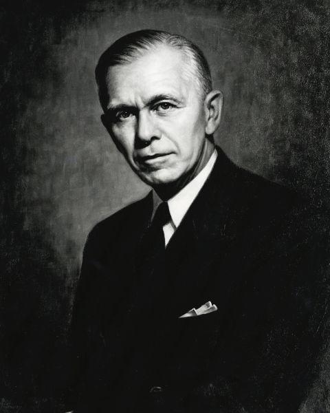George Catlett Marshall, cunoscut, mai ales, ca George Marshall (n. 31 decembrie 1880 - d. 1959) a fost un general, diplomat și politician american, distins cu Premiul Nobel pentru Pace - foto preluat de pe en.wikipedia.org