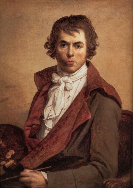 Jacques-Louis David (n. 30 august 1748 – d. 29 decembrie 1825) a fost unul dintre cei mai influenţi pictori francezi ai stilului Neoclasic - (Self portrait, 1794, Musée du Louvre) - foto preluat de pe ro.wikipedia.org