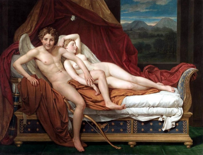 Love and Psyche or Cupid and Psyche is an 1817 painting by Jacques-Louis David, now in the Cleveland Museum of Art - foto preluat de pe ro.wikipedia.org