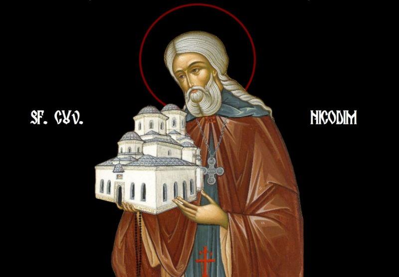 Sfântul Cuvios Nicodim cel Sfinţit de la Tismana (1310 - 1406) - foto preluat de pe ziarullumina.ro