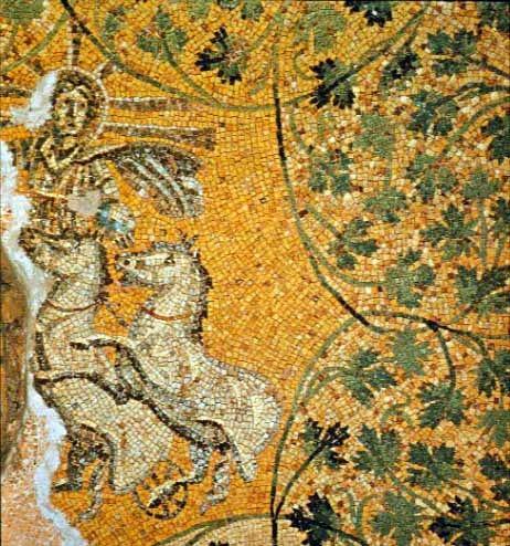 Mosaic of Sol in Mausoleum M in the Vatican Necropolis - foto preluat de pe en.wikipedia.org