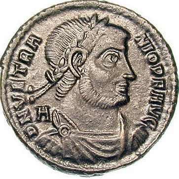 Vetranio sau Vetriano (n. ? în Moesia - d. cca. 360), a luat titlul de Augustus în perioada 1 martie – 25 decembrie 350 alături de Constantin al II-lea. Vetranio, care era un general loial, a fost proclamat împărat de legiunile danubiene după moartea lui Constant și, mai târziu, a demisionat din poziția sa în favoarea lui Constantius - foto preluat de pe ro.wikipedia.org