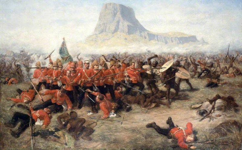Bătălia de la Isandlwana - 22 ianuarie 1879 (Charles Edwin Fripp) - foto preluat de pe en.wikipedia.org