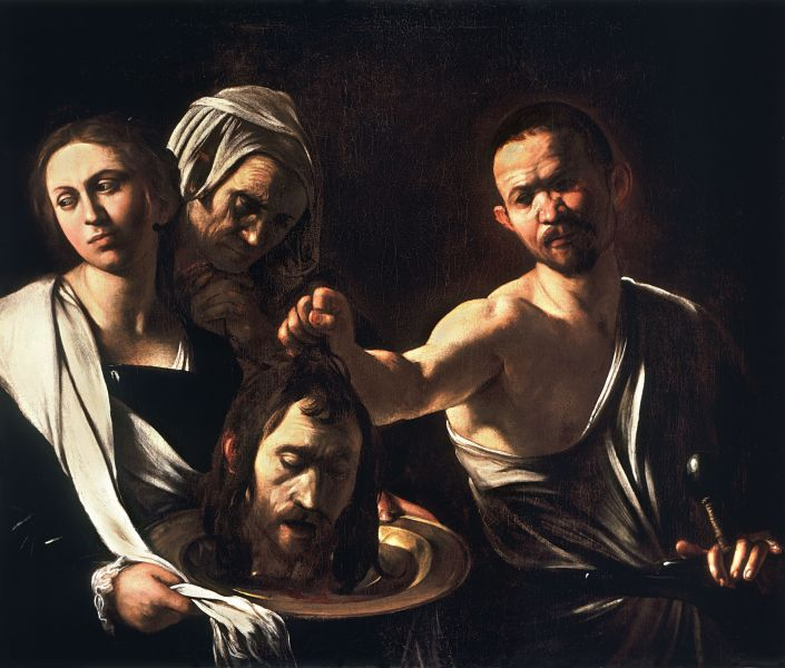 Salome with the Head of John the Baptist by Caravaggio, National Gallery, London, c. 1607–10 - foto preluat de pe en.wikipedia.org