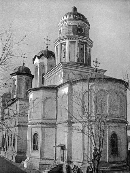 Biserica Mănăstirii Văcărești în anul 1906 - foto preluat de pe ro.wikipedia.org
