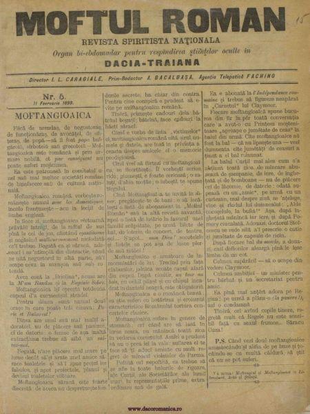 Moftul român (1893) - foto preluat de pe www.scribd.com