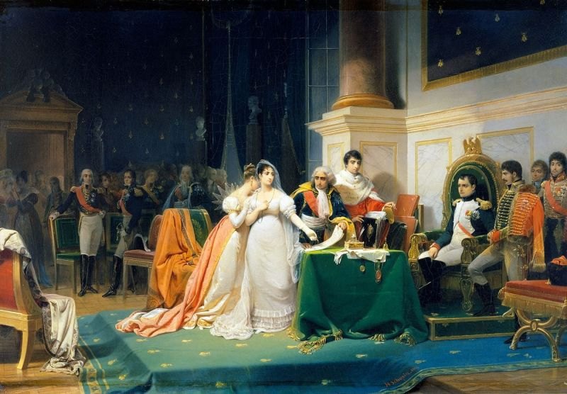 The Divorce of the Empress Josephine in 1809 by Henri Frédéric Schopin - foto preluat de pe en.wikipedia.org