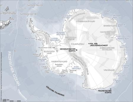 Hartă cu teritoriul înconjurător al Polului Sud - foto preluat de pe ro.wikipedia.org