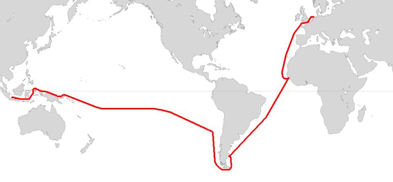 Route of the 1615–1616 voyage - foto preluat de pe en.wikipedia.org