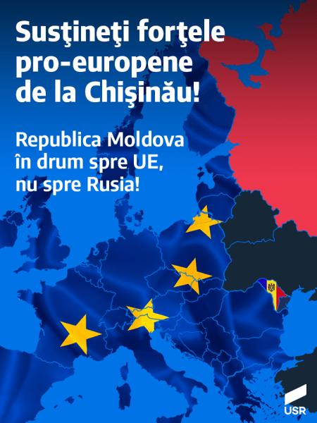 USR susține forțele pro-europene de la Chișinău - foto preluat de pe www.facebook.com
