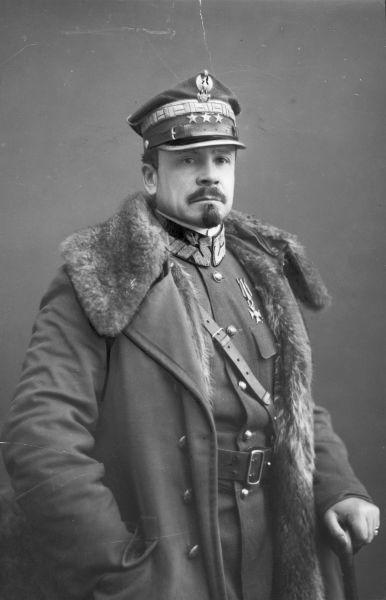 Colonelul Józef Haller von Hallenburg (13 August 1873 – 4 June 1960), liderul militar al rebeliunii, în 1918 - foto preluat de pe en.wikipedia.org