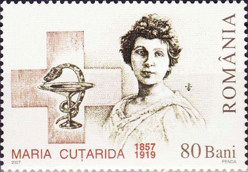 Maria Cuțarida-Crătunescu (n. 10 februarie 1857, la Călărași - d. 10/16 noiembrie 1919) a fost un medic român renumită pe plan internațional, prima femeie medic din România. Militantă feministă activă, a înființat în 1897 Sociatatea maternă, iar 1899 a organizat prima creșă din țară - foto preluat de pe ro.wikipedia.org
