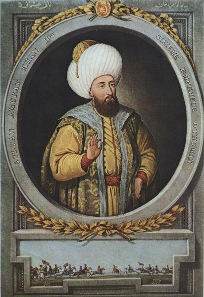 Murad al II-lea sau Koca Murad (n. iunie 1404, Amasya, Turcia – d. 3 februarie 1451, Edirne, Imperiul Otoman) a fost sultan al Imperiului Otoman între anii 1421 - 1451 (cu o întrerupere între 1444 și 1446) - foto preluat de pe en.wikipedia.org