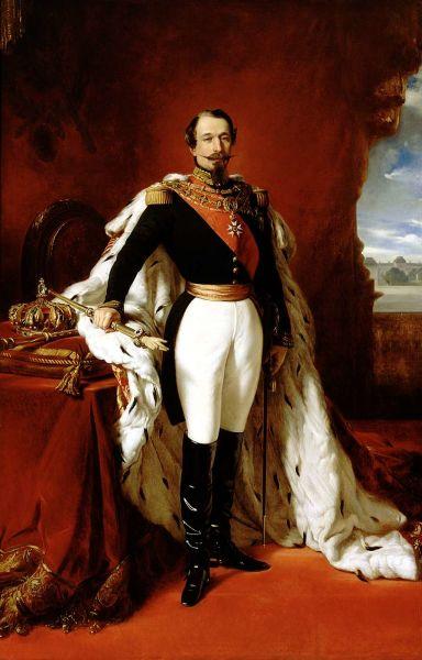 Charles-Louis-Napoléon Bonaparte (n. 20 aprilie 1808 - d. 9 ianuarie 1873) a fost primul președinte al celei de a 2-a Republici Franceze în 1848 și a devenit apoi, în urma unei lovituri de stat din 1852, al doilea împărat al francezilor, sub numele de Napoléon al III-lea - (Portrait by Franz Xaver Winterhalter) - foto preluat de pe en.wikipedia.org
