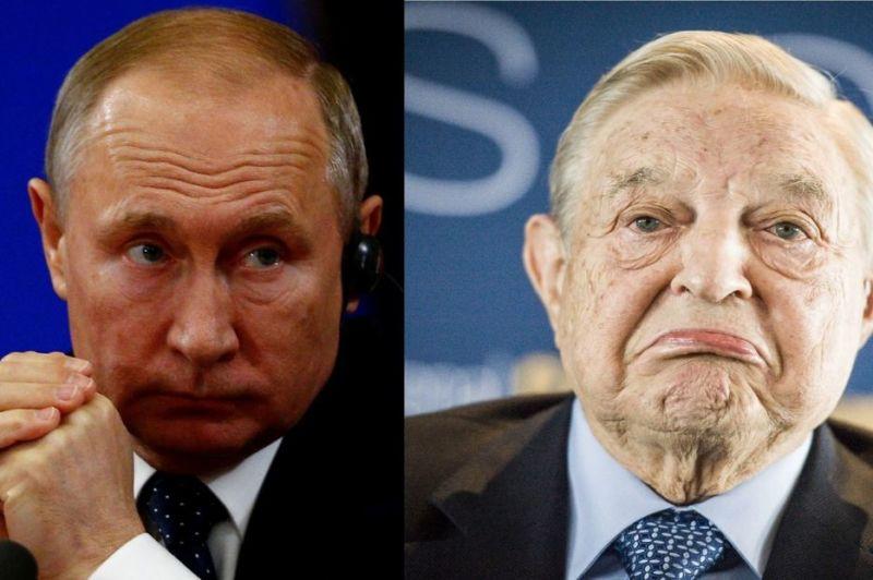 Gaşca lui Soros versus banda lui Putin - foto preluat de pe www.gandul.info