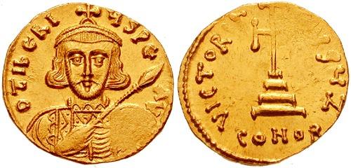 Tiberius II Apismaros (d. 705), cunoscut și sub numele de Tiberius III a fost împărat bizantin între 698 și 705 - (Comandatul german Apismar; împăratul Tiberius II) foto preluat de pe ro.wikipedia.org