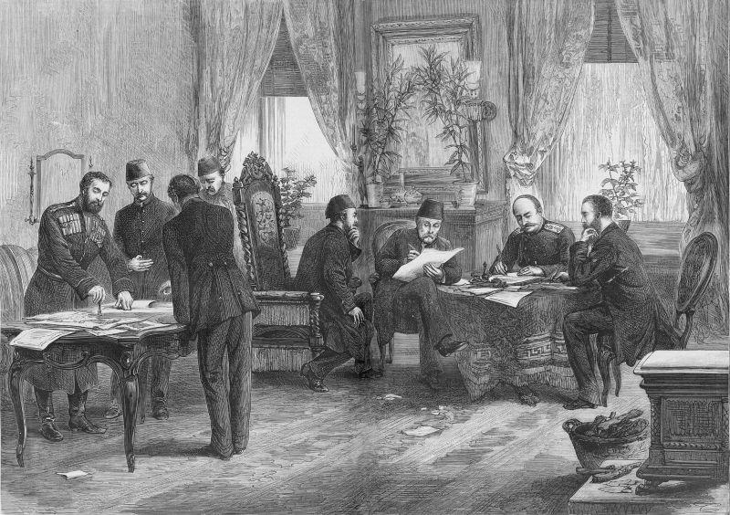Semnarea Tratatului de la San Stefano, Turcia (3 martie 1878) - foto preluat de pe en.wikipedia.org