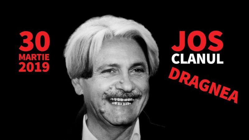 """""""Jos clanul Dragnea!"""" - Protest împotriva coaliţiei PSD-ALDE în Piaţa Universităţii (30 martie 2019) - foto preluat de pe www.facebook.com"""