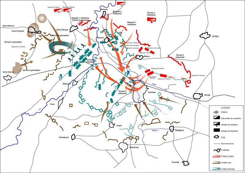 Războiul de Independență al României (1877 – 1878) - Faza finală a bătăliei de la Plevna - foto preluat de pe ro.wikipedia.org