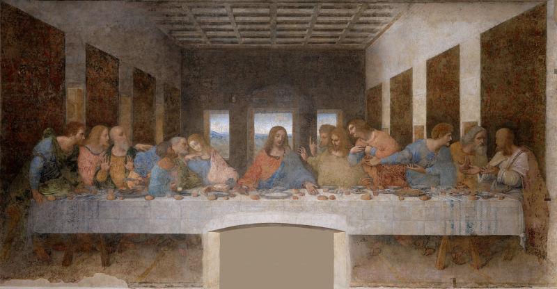 """Leonardo da Vinci  (Cina cea de Taină din bazilica """"Santa Maria delle Grazie"""" Milano) - foto preluat de pe ro.wikipedia.org"""