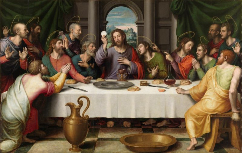 """The Last Supper"", depicted by Juan de Juanes, c. 1562 - foto preluat de pe ro.wikipedia.org"