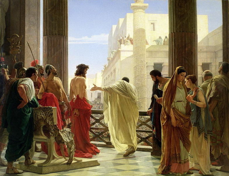 Ecce homo! Antonio Ciseri's 1871 depiction of Pontius Pilate presenting Jesus to the public - foto preluat de pe en.wikipedia.org