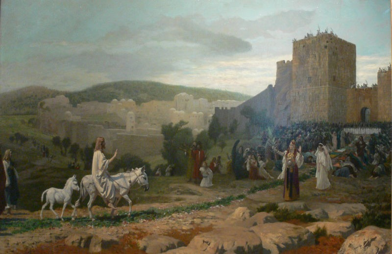 A painting of Jesus' final entry into Jerusalem, by Jean-Léon Gérôme, 1897 - foto preluat de pe en.wikipedia.org