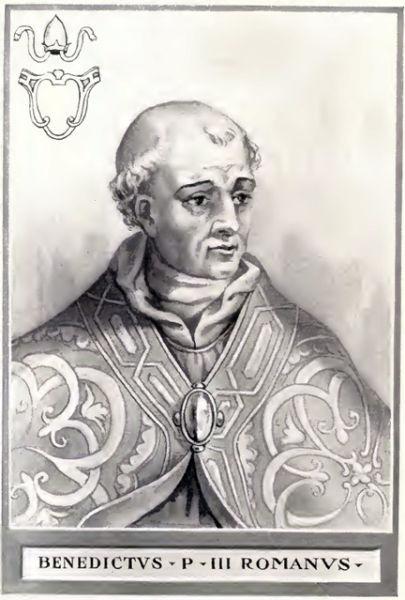 Papa Benedict al III-lea (n. 810 e.n - d. 7 aprilie 858) a fost un papă al Romei - foto preluat de pe ro.wikipedia.org