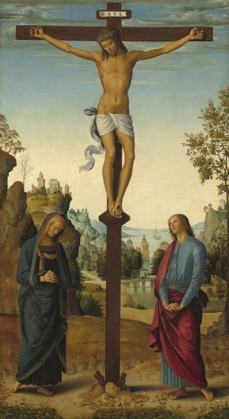 Pietro Perugino's depiction of the Crucifixion as Stabat Mater, 1482 - foto preluat de pe en.wikipedia.org