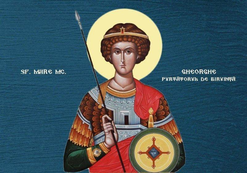 Sf. Mare Mc. Gheorghe, purtătorul de biruinţă - foto preluat de pe ziarullumina.ro