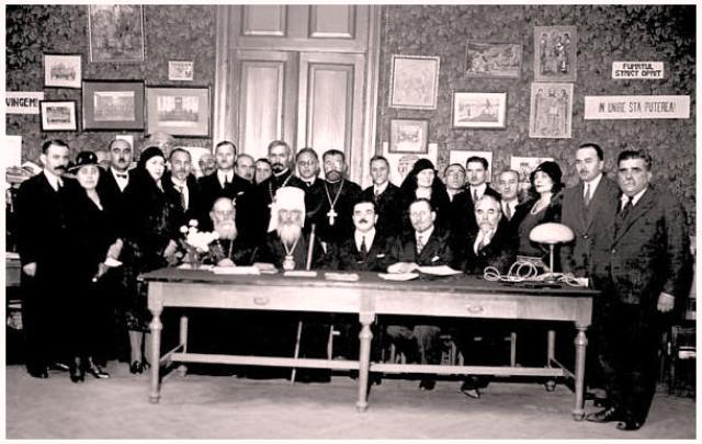Celebrarea a 25 ani de la lansarea ziarului Basarabia, mai 1931 - foto preluat de pe www.istoria.md