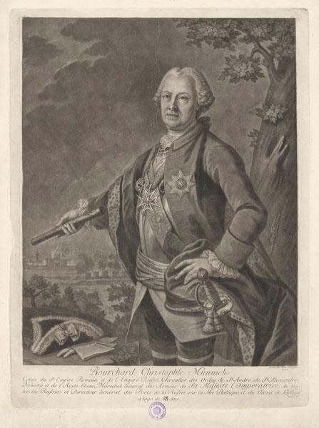 Burkhard Christoph Graf von Münnich (19 May [O.S. 9] 1683 – 27 October [O.S. 16] 1767) - foto preluat de pe en.wikipedia.org