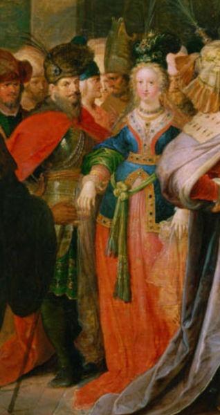 Franz Franken: Mihai Viteazul şi domniţa Florica, detaliu din tabloul Croesus arătându-şi comorile lui Solon - foto preluat de pe ro.wikipedia.org