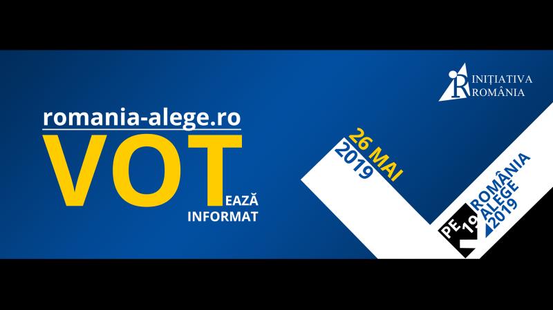 România Alege, ediția pentru Alegerile pentru Parlamentul European din 2019 - foto preluat de pe www.facebook.com/initiativaromania2016