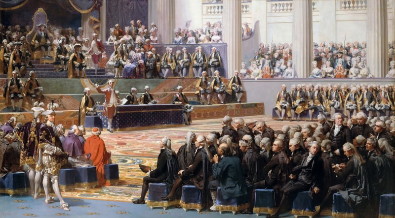Painting by Auguste Couder showing the inauguration of the Estates-General in Versailles on 5 May 1789 - foto preluat de pe en.wikipedia.org
