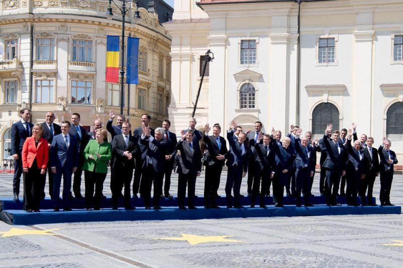 Summitul informal al șefilor de stat sau de guvern din Uniunea Europeană – Sibiu, 9 mai - foto preluat de pe www.facebook.com
