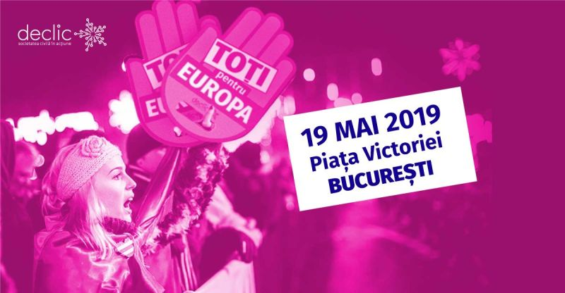 Toți pentru Europa (19 mai 2019) - foto preluat de pe www.facebook.com