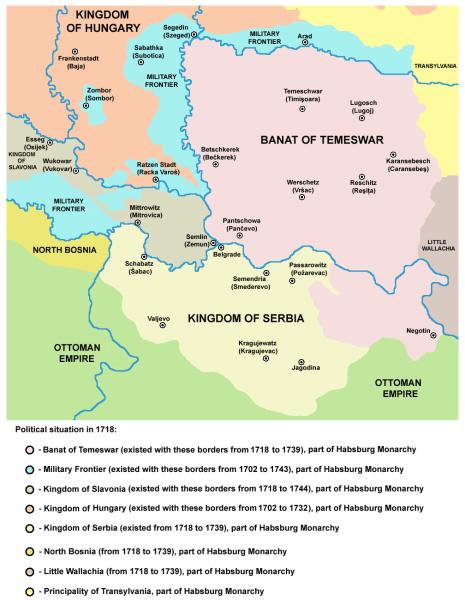 Treaty of Belgrade (18 September 1739) Political situation before the war 1737-1739 - foto preluat de pe en.wikipedia.org