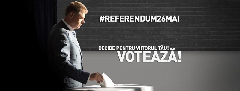 poster referendum 26 mai 2019 Iohannis