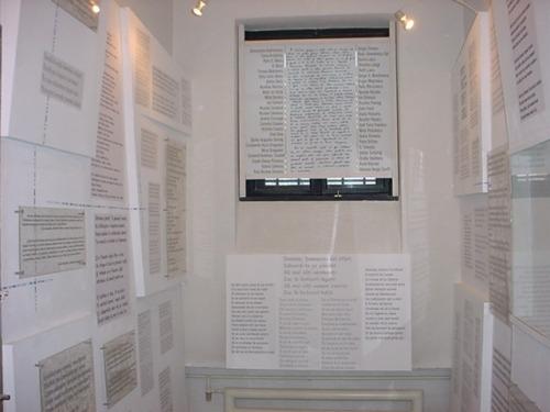 """Muzeul Sighet - Sala 51 – """"Poezia în închisoare"""" - foto preluat de pe www.memorialsighet.ro"""