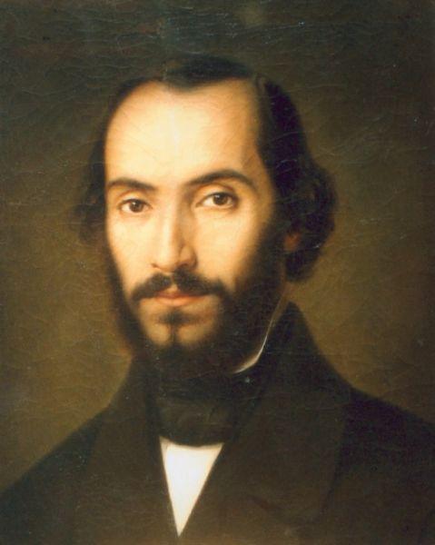 Nicolae Bălcescu (n. 29 iunie 1819, Bucureşti – d. 29 noiembrie 1852, Palermo) a fost un istoric, scriitor şi revoluţionar român. Alături de fratele său mai mic, Barbu, a participat la Revoluţia din 1848. Prin capodopera sa Românii supt Mihai Voievod Viteazul, Bălcescu l-a impus în canonul naţional pe voievodul Mihai Viteazul - (Nicolae Bălcescu, pictura de Gheorghe Tattarescu , 1851) - foto preluat de pe ro.wikipedia.org