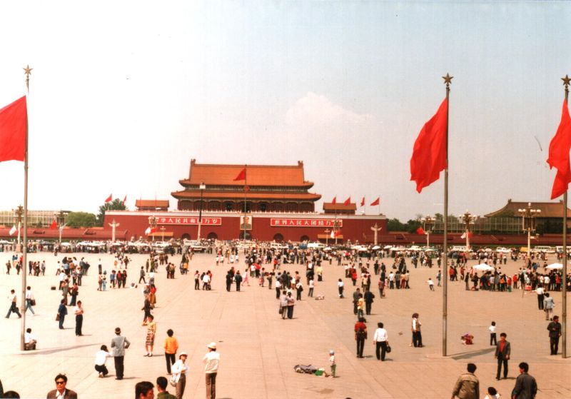 Piața Tienanmen in mai 1988 - foto preluat de pe en.wikipedia.org