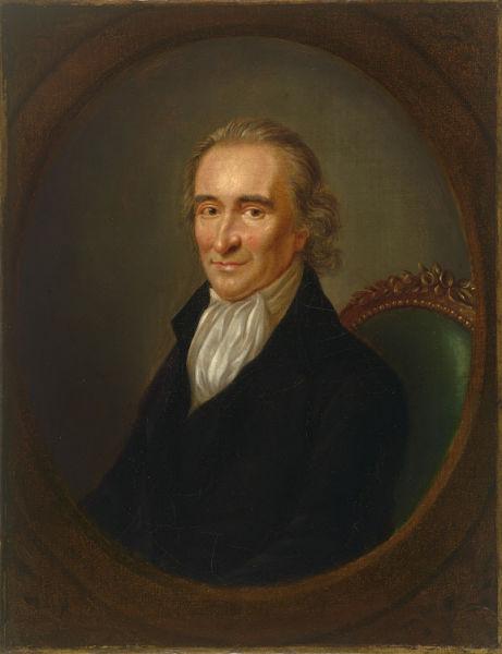 Thomas Paine (n. 29 ianuarie 1737, Thetford, Anglia - d. 8 iunie 1809, New York, Statele Unite) a fost un pamfletar, revoluționar, radicalist și intelectual. Născut în Marea Britanie, a imigrat în coloniile americane în preajma Revoluției Americane - Portrait by Laurent Dabos (c. 1792) foto preluat de pe en.wikipedia.org