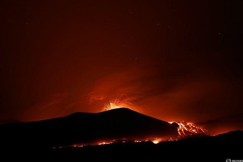 Muntele Etna, cel mai înalt și cel mai activ vulcan din Europa,a erupt din nou, Sicilia, Italia, 28 iulie 2019 - Foto: (c) Antonio Parrinello / REUTERS - preluat de pe www.agerpres.ro