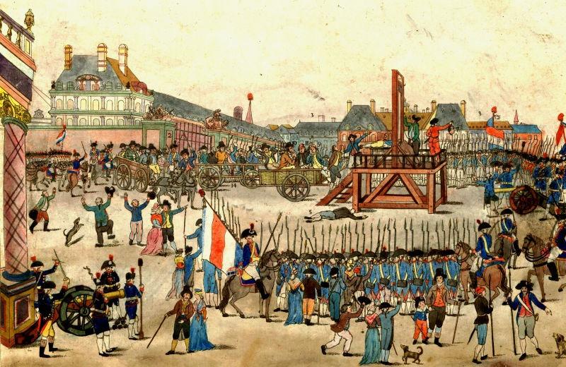Execuţia lui Robespierre (28 iulie 1894) - foto preluat de pe ro.wikipedia.org