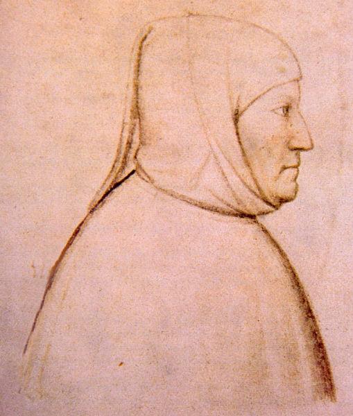 Francesco Petrarca (n. 20 iulie 1304, Incisa/ Arezzo - d. 19 iulie 1374, Arquà/Padova) a fost un prozator, poet şi umanist italian din secolul al XIV-lea, unul din cei mai importanţi poeţi lirici ai literaturii italiene - portrait by Altichiero - foto preluat de pe en.wikipedia.org