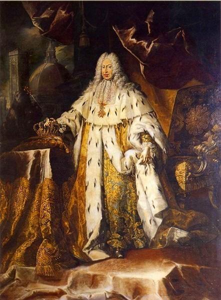 Gian Gastone de' Medici (Giovanni Battista Gastone; 24 mai 1671 – 9 iulie 1737) a fost al șaptelea și ultimul Mare Duce de Toscana al Casei de Medici (Portrait by Franz Ferdinand Richter) - foto preluat de pe en.wikipedia.org